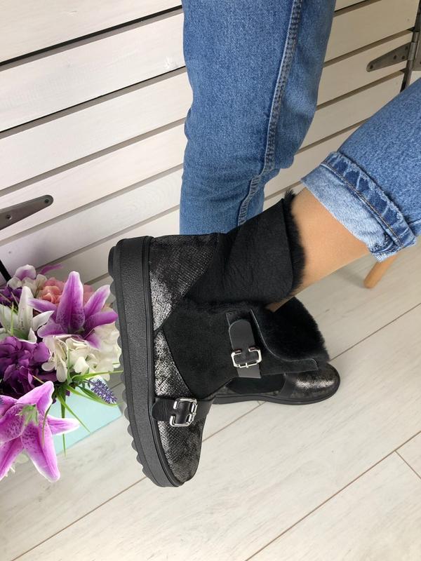 Lux обувь! новинка 2020 угги натуральные с ремешками