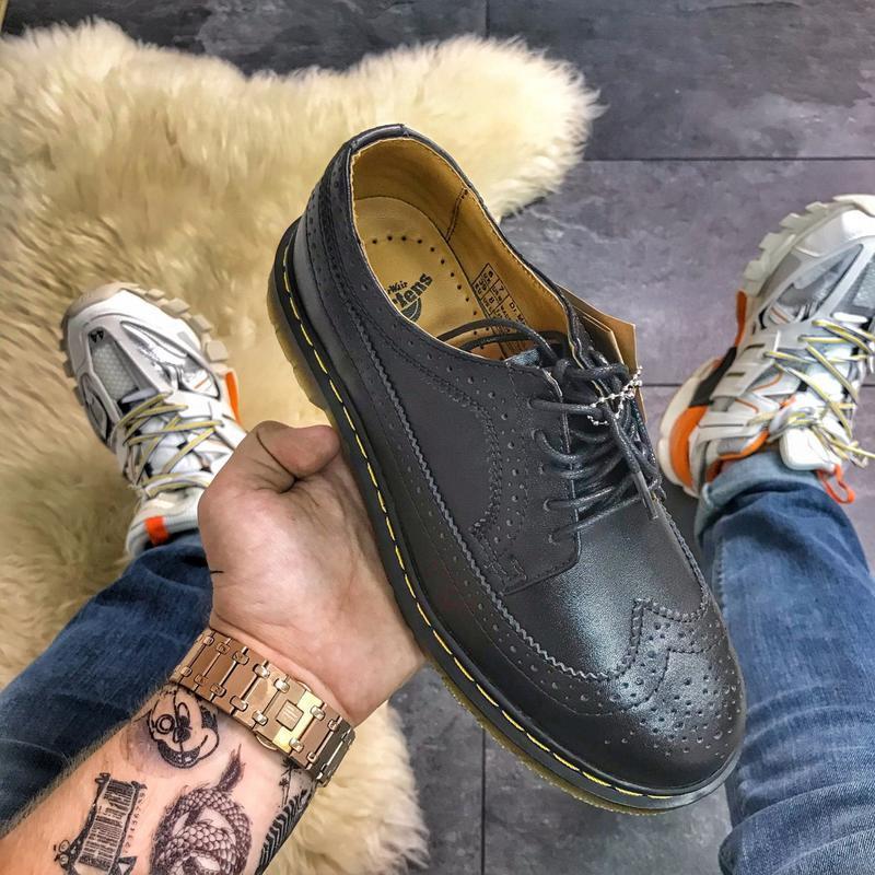 Dr martens 3989 black, женские/мужские кожаные туфли мартинс, ...