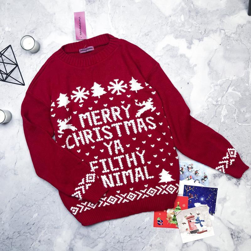 Новый с биркой новогодний свитер