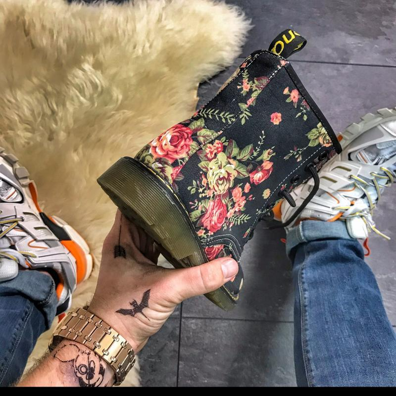 Женские ботинки black flower, как dr martens, осенние/весенние... - Фото 5