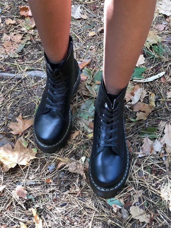 Lux обувь! высокие массивные натуральные ботинки 🥾 на шнуровке