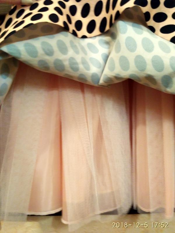 Платье женское modello в горох,выпускное платье, б/у размер s,... - Фото 2