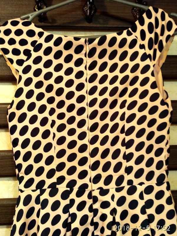 Платье женское modello в горох,выпускное платье, б/у размер s,... - Фото 3