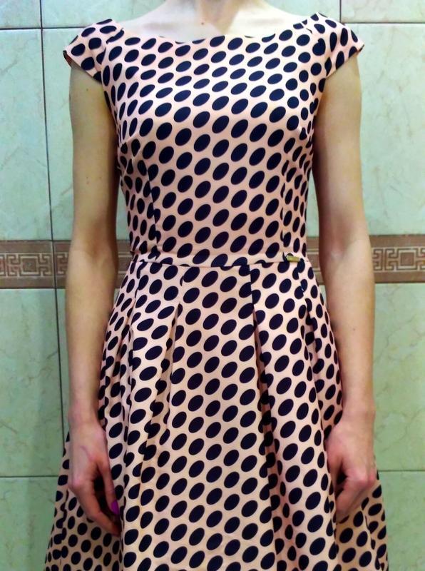 Платье женское modello в горох,выпускное платье, б/у размер s,... - Фото 4