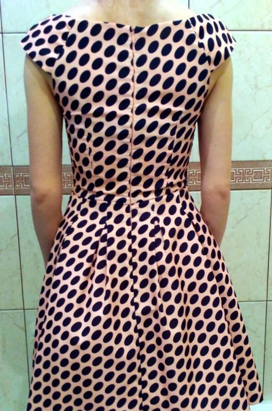 Платье женское modello в горох,выпускное платье, б/у размер s,... - Фото 5