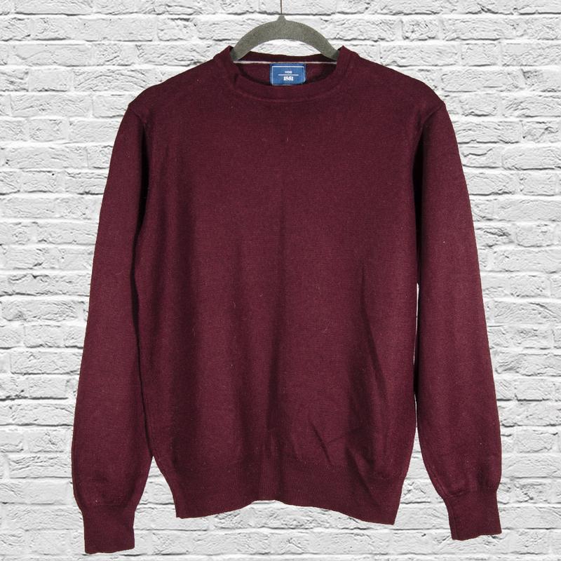 Кашемировый свитер бордовый, шерстяной свитер женский, кашемир...