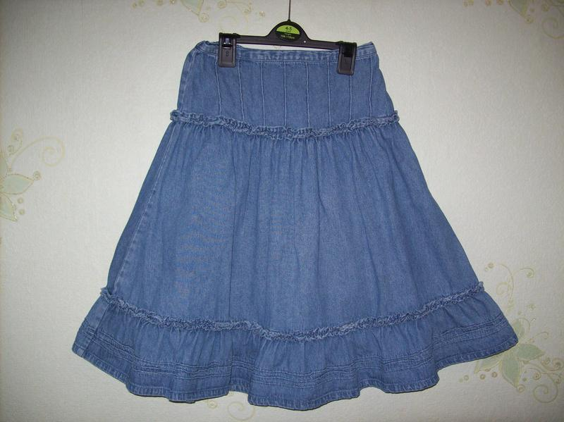Красивая джинсовая юбка, англия