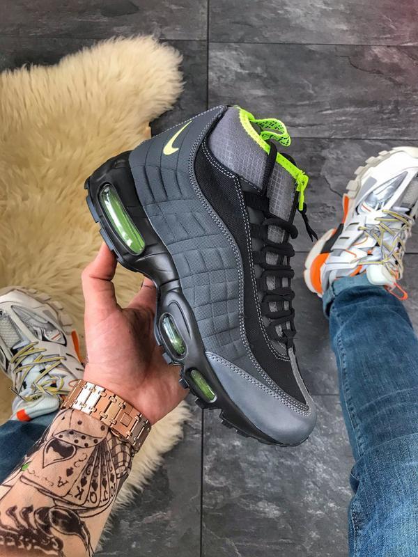 ⚡nike air max 95 sneakerboot black volt⚡кроссовки найк эир, ос...