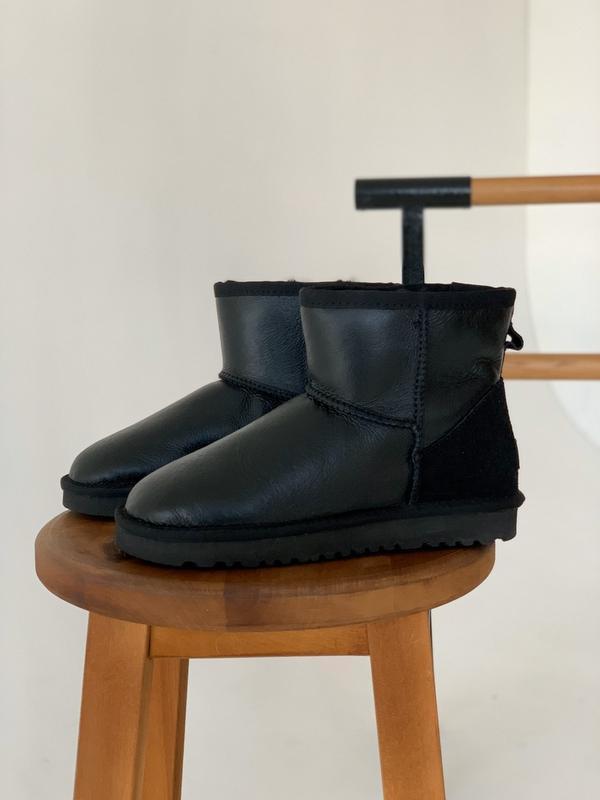 Ugg classic mini! женские кожаные зимние угги/ сапоги/ ботинки...