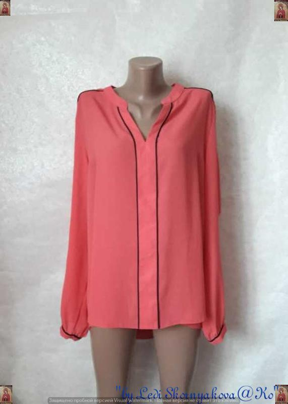 Фирменная atmosphere нарядная блуза в розовом цвете с чёрном о...