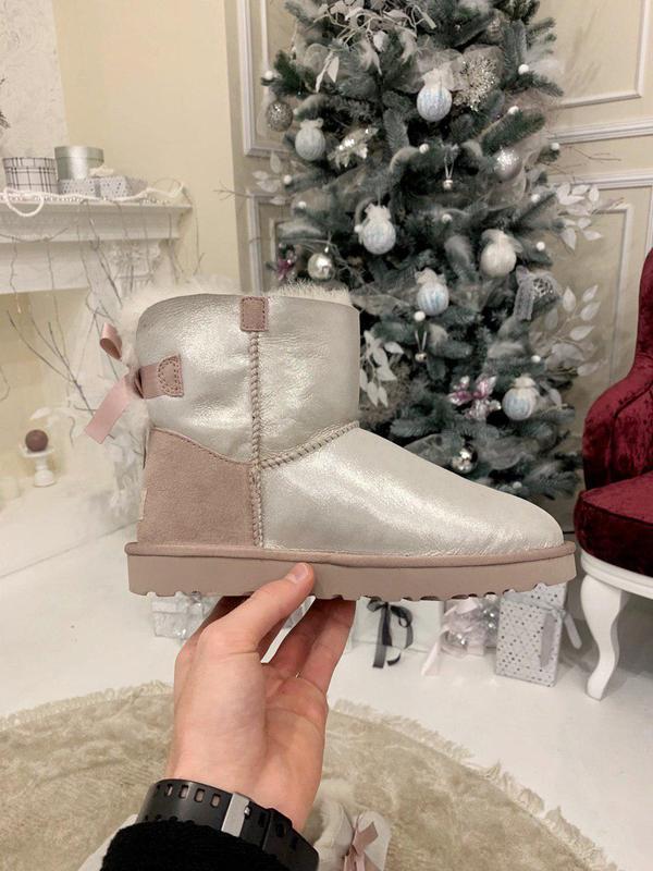 Ugg bailey bow! женские замшевые зимние угги/ сапоги/ ботинки/...