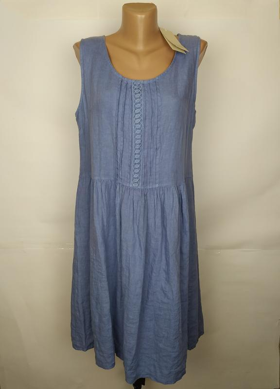 Платье новое итальянское льняное красивое uk 14/42/l
