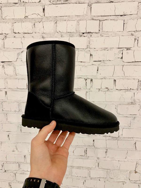 Ugg classic short! женские кожаные зимние угги/ сапоги/ ботинк...