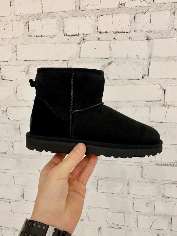 Ugg classic mini! женские замшевые зимние угги/ сапоги/ ботинк...