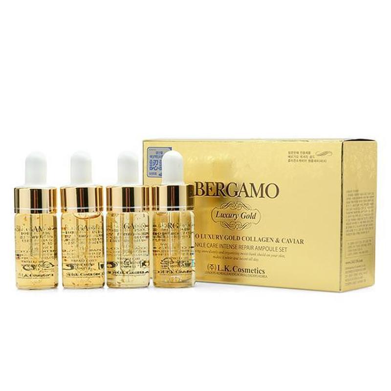 Золотая сыворотка с икрой против морщин bergamo luxury gold ca...