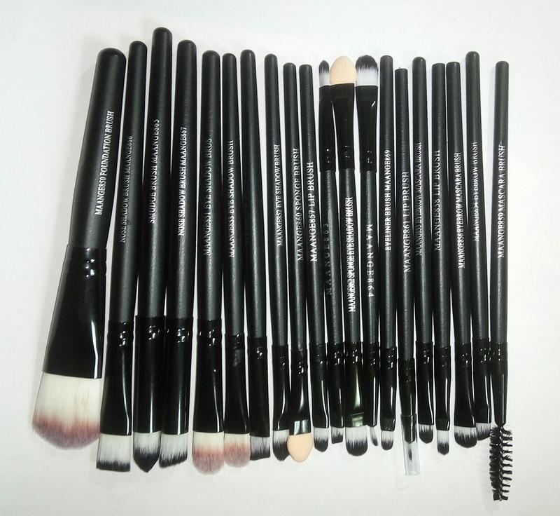 Кисти для макияжа набор 20 шт black