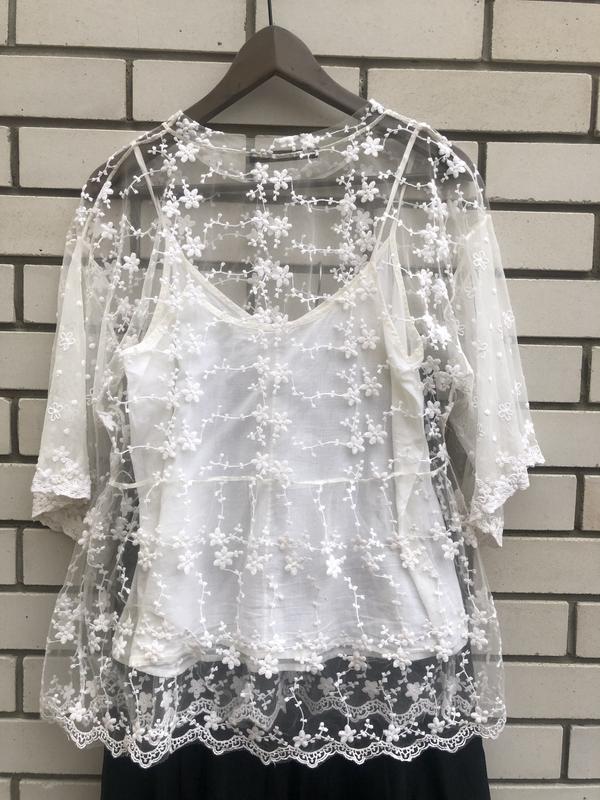 Кружевная блузка zara