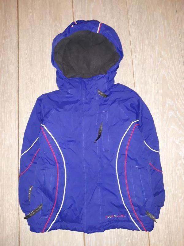 Тёплая зимняя курточка parallel на 3-4 года