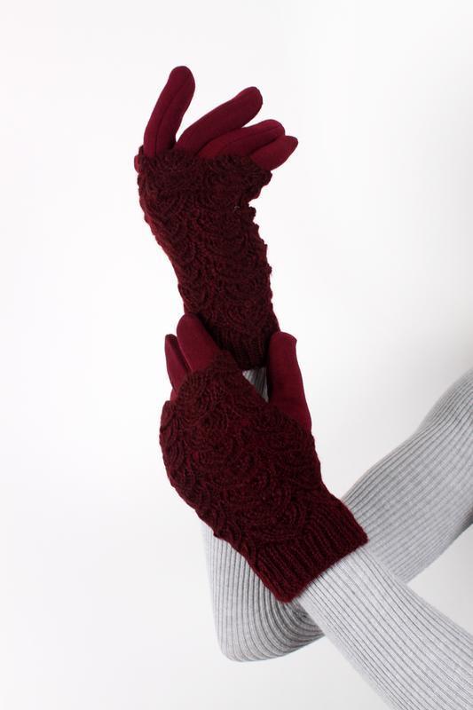 Перчатки ( митенки ) сенсорные зимние, ажурные, разные цвета!
