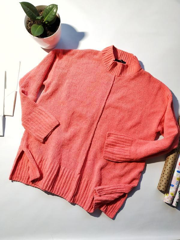Яркий плюшевый свитер с высокой горловиной marks&spencer
