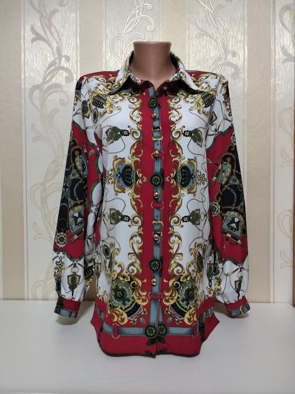 Рубашка, блуза яркая , симметрия .