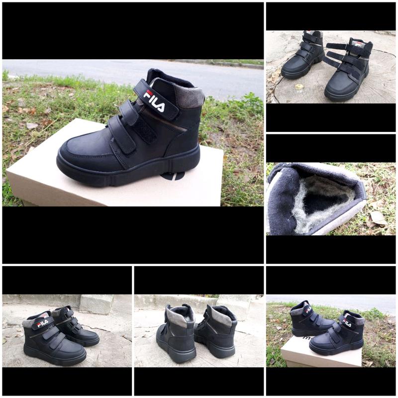 Зимние ботинки Fila кожа липучки 35- 39