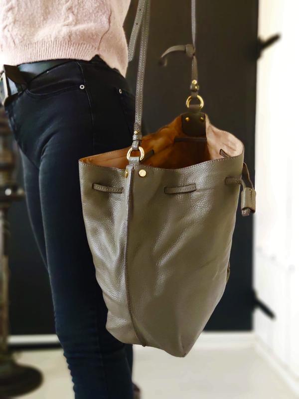 Madeleine 100% оригинальная итальянская кожаная сумка - Фото 3