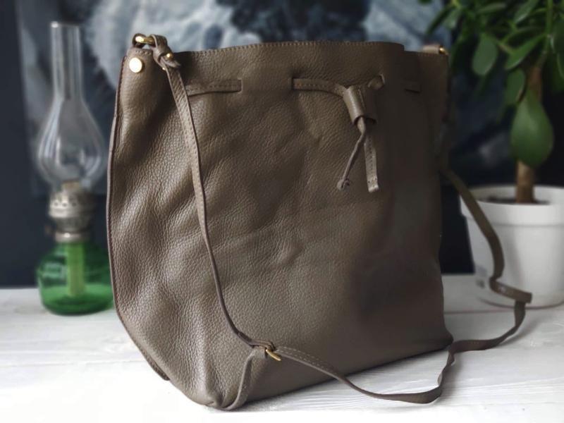 Madeleine 100% оригинальная итальянская кожаная сумка - Фото 4