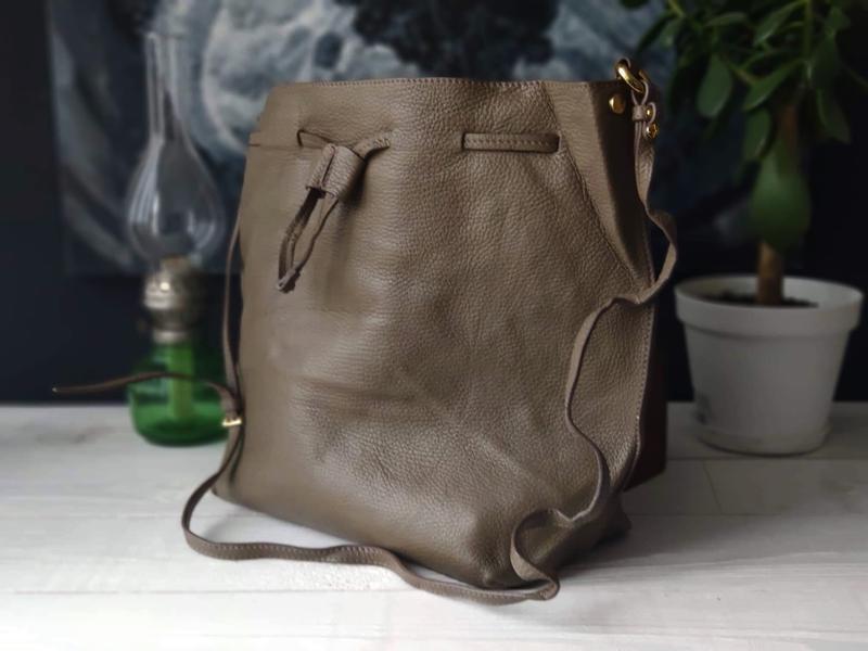 Madeleine 100% оригинальная итальянская кожаная сумка - Фото 5