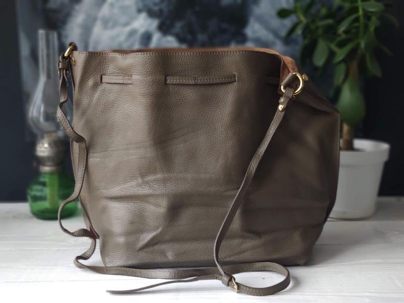 Madeleine 100% оригинальная итальянская кожаная сумка - Фото 6