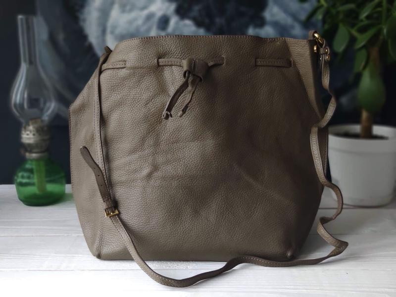 Madeleine 100% оригинальная итальянская кожаная сумка - Фото 7