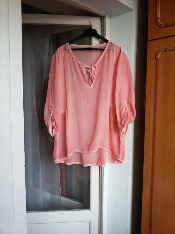 Шелковая блуза оверсайз nile 100% шелк