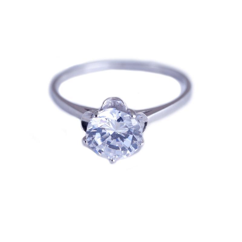 Серебряное кольцо «мини зеркало»