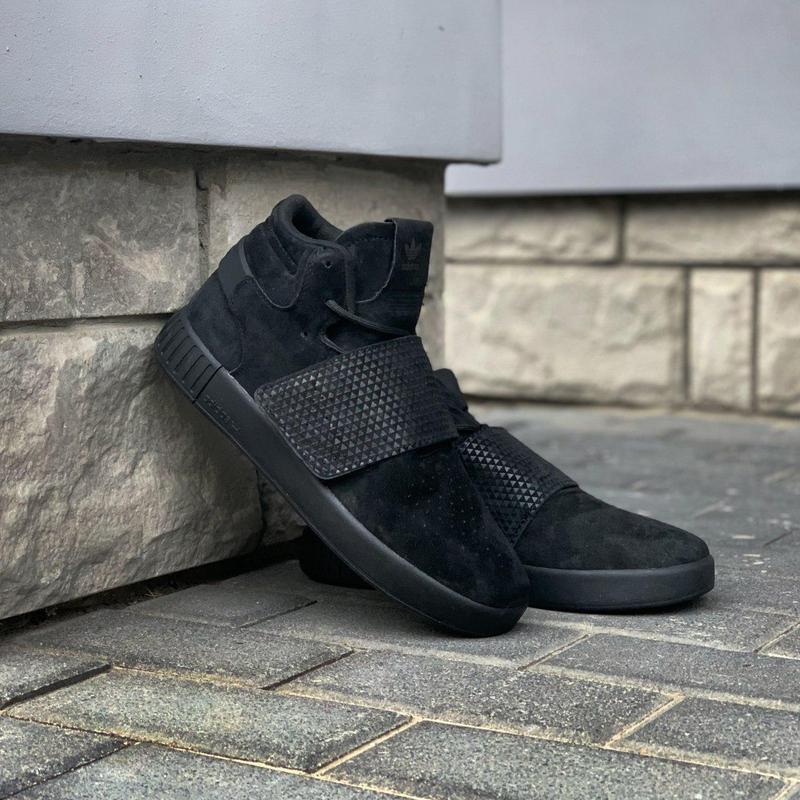 Шикарные мужские кроссовки adidas tubular invader strap core b... - Фото 4