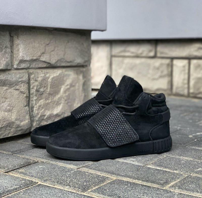 Шикарные мужские кроссовки adidas tubular invader strap core b... - Фото 5
