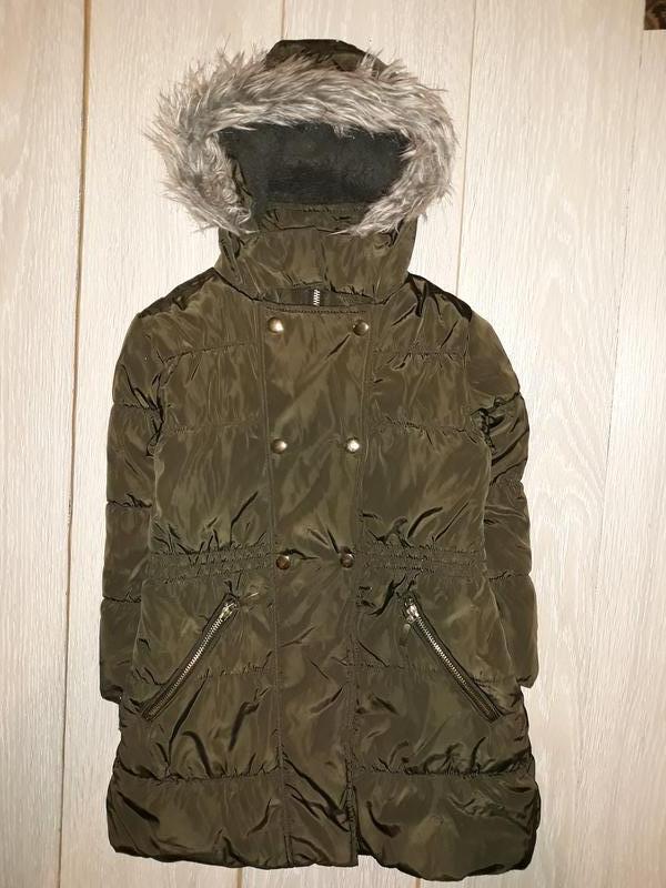 Зимняя курточка пальто tu на 5-6 лет