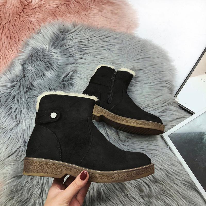Новые женские черные демисезонные ботинки