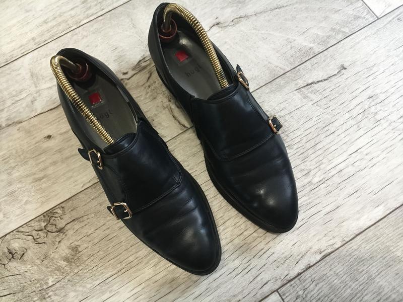 Туфли монки женские hogl 24см 24.3см натур.кожа