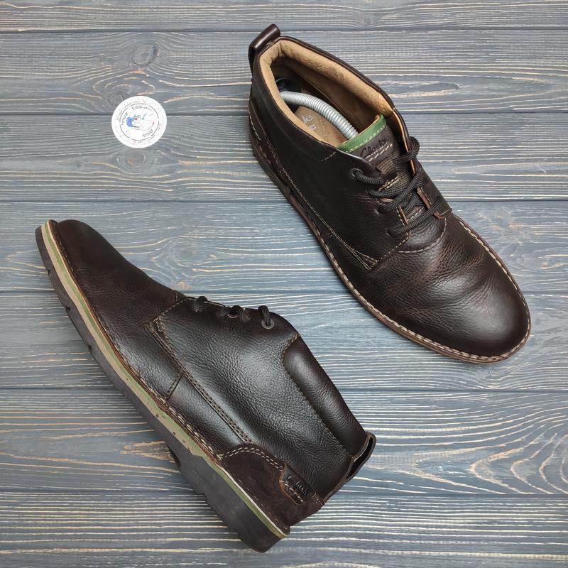 Кожаные ботинки clarks оригинал!
