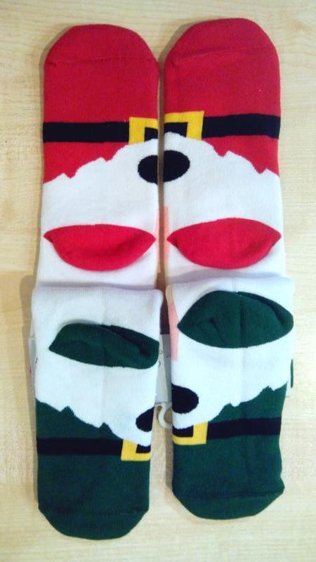Носки женские махровые новогодние левый-правый 2 пары на планш... - Фото 2