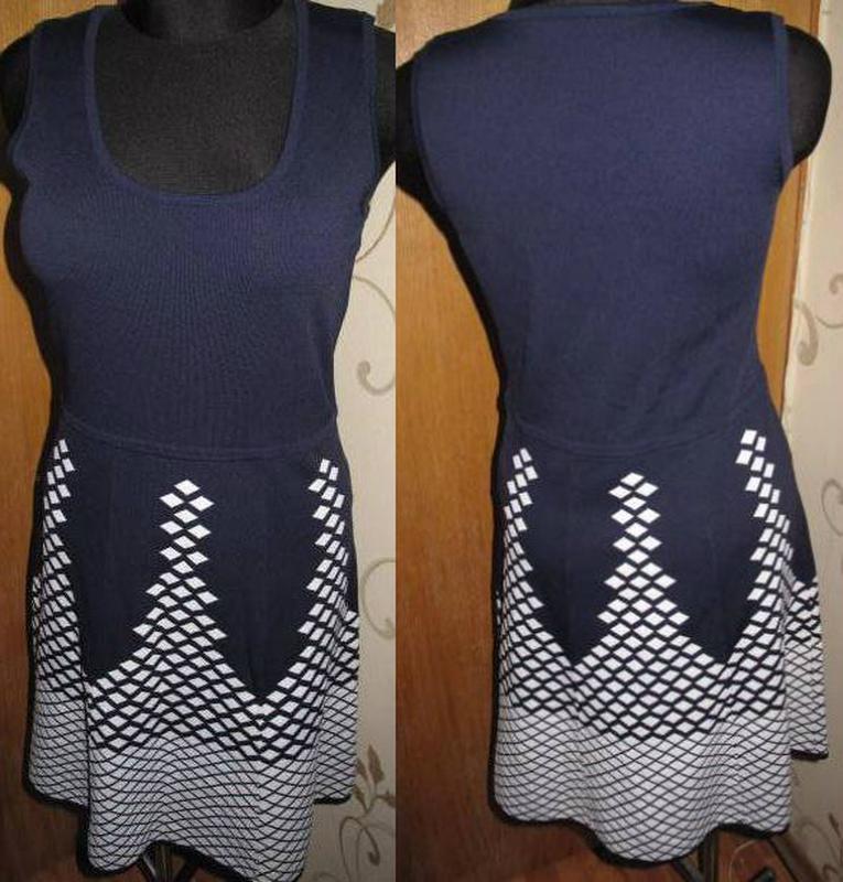 Стильна синя сукня emreco р40