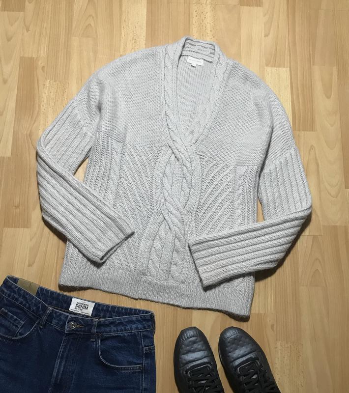 В наличии - теплый оверсайз-свитер с шерстью и альпакой *365 s...