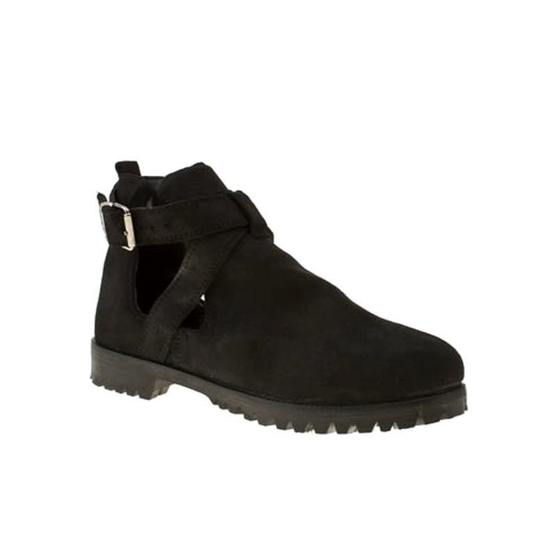 В наличии - туфли-ботинки с прорезями *schuh* 4/37 р. - натура...