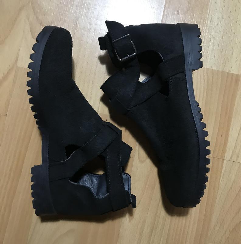 В наличии - туфли-ботинки с прорезями *schuh* 4/37 р. - натура... - Фото 2