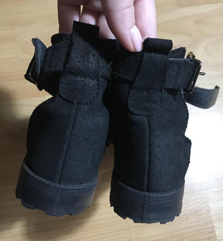 В наличии - туфли-ботинки с прорезями *schuh* 4/37 р. - натура... - Фото 5