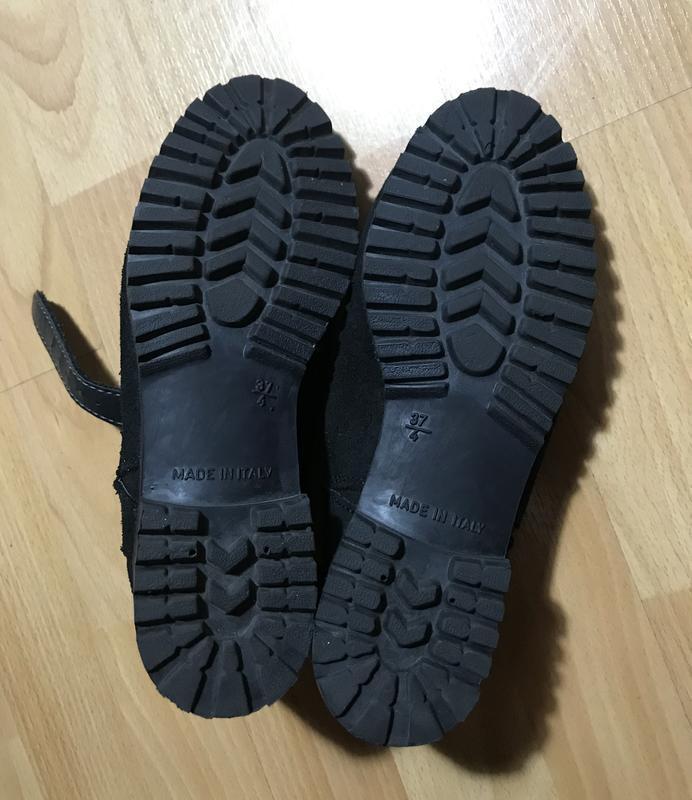 В наличии - туфли-ботинки с прорезями *schuh* 4/37 р. - натура... - Фото 6
