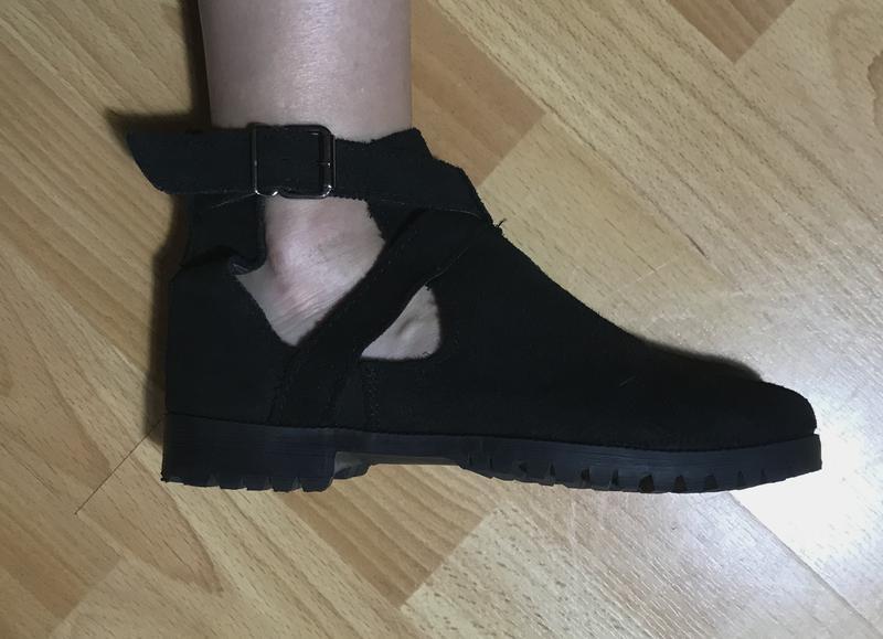 В наличии - туфли-ботинки с прорезями *schuh* 4/37 р. - натура... - Фото 9
