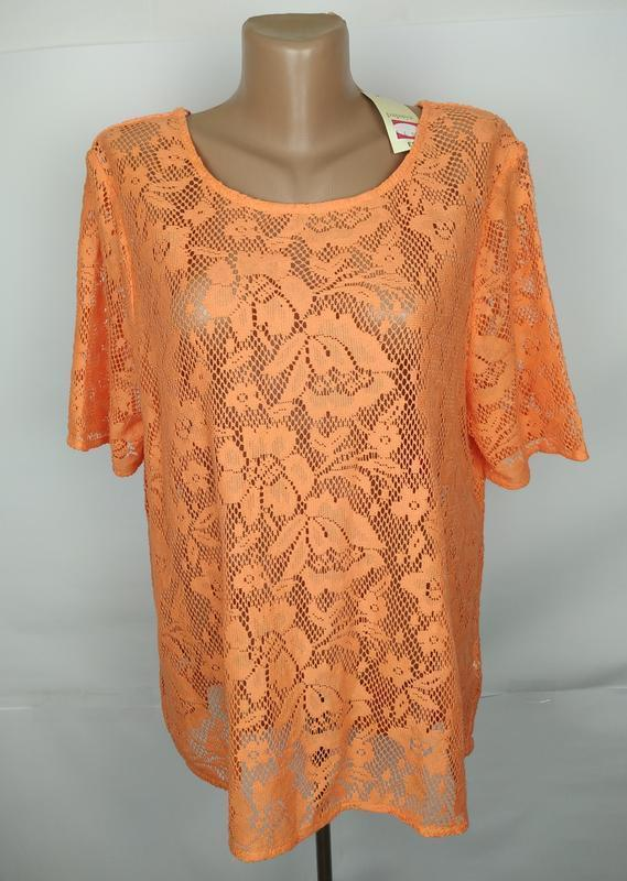 Блуза шикарная кружевная большого размера papaya uk 18/46/xxl