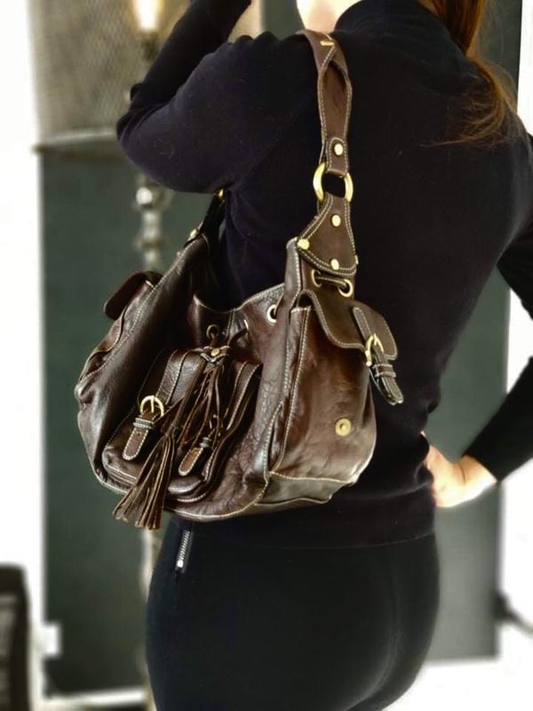 Caroll 100%  оригинальная кожаная сумка