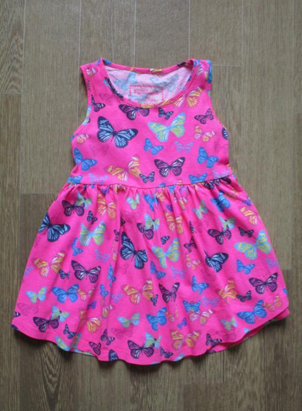 Трикотажное платье в бабочках